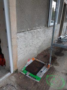 11 - 2 enduit chaux en bas de mur